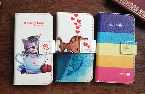 <font><b>For</b></font> <font><b>lenovo</b></font> <font><b>S920</b></font> <font><b>case</b></font>, PU Stand Wallet Leather Cover Painting <font><b>case</b></font> <font><b>For</b></font> <font><b>lenovo</b></font> <font><b>S920</b></font> <font><b>Case</b></font> + Lanyard gift image