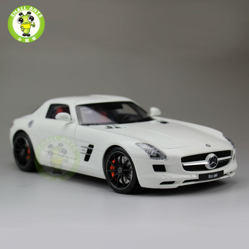 ФОТО 1:18 Scale Mercedes-Benz SLS AMG Roadster Diecast Car Model Welly GT Autos White