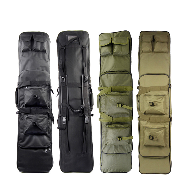 120CM Tactical Rifle Cases Gun Bags with Shoulder Strap Tactical Hunting 120cm Rifle Backpack Rainproof 47 folding fishing rod bag tactical duel rifle gun carry bag with shoulder strap outdoor fishing hunting gear accessory bag