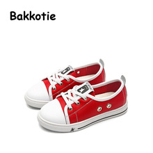Bakkotie 2017 New Spring Autumn Fashion Child Genuine Leather Shoe Red Baby Boy Leisure Sneaker Kid Brand Breathable Girl Black
