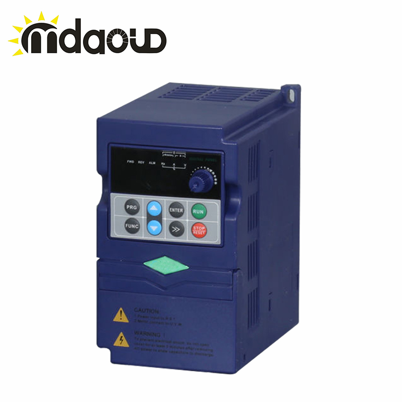 0.75KW inverter VFD 220V VARIABLE FREQUENCY DRIVE INVERTER single phase input 3 phase output frequency converter 110v 2 2kw ac variable frequency inverter converter 3 phase output single phase input space voltage vector modulation