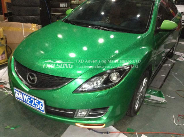 placeholder GREEN Glossy glitter diamond vinyl car sticker with air free  channels  aef9d91f6f1b