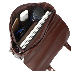 Image 5 - Zebella حقائب رجال الأعمال خمر بو الجلود براون رجل محمول حقيبة ساع المحفظة الكلاسيكية وثيقة حقيبة مكتب جديد