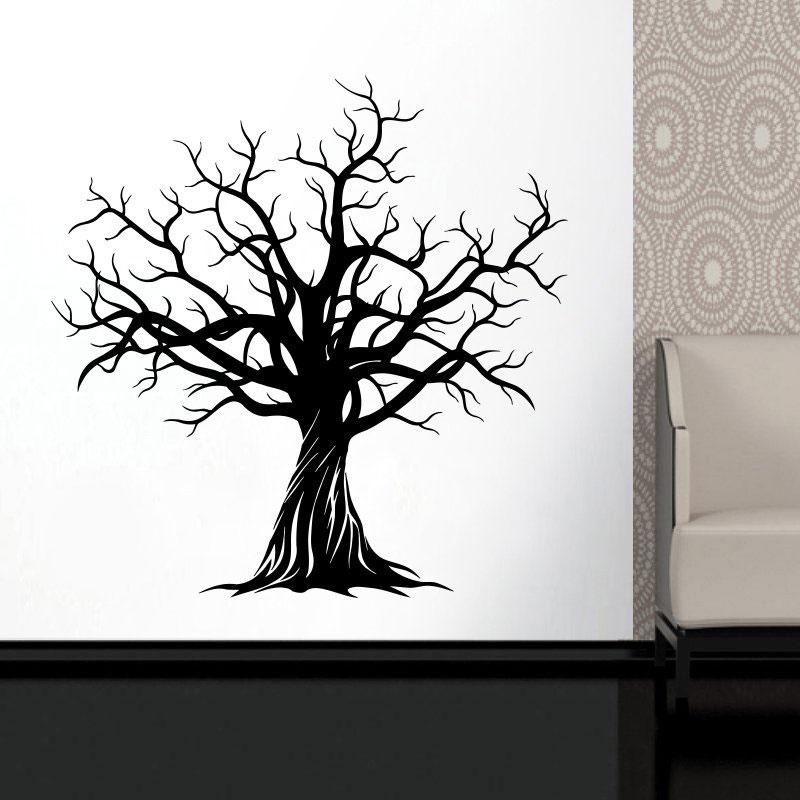 Vinyl Wall Sticker Stylish Huge Tree Nature Art Decor Home