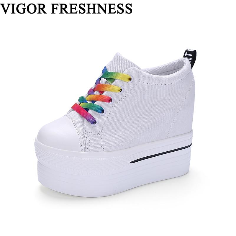 VIGOR FRESHNESS Woman Vulcanized Shoes Canvas Pumps