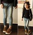 O envio gratuito de Nova primavera roupas Meninas jeans crianças, crianças de jeans Crianças calças de brim, jeans da moda, crianças casuais calças 3-8A