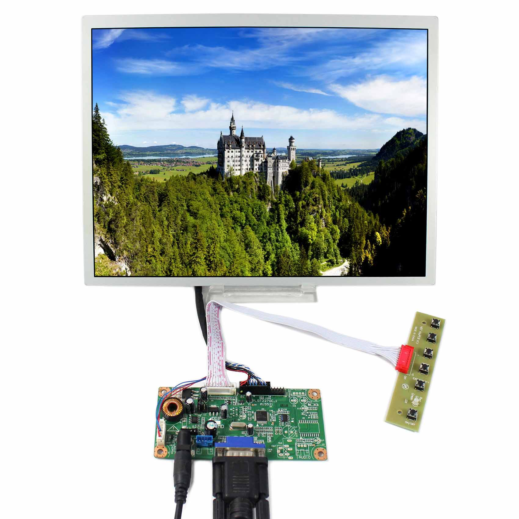 VGA LCD Controller Board With 12.1 LQ121S1LG75 800x600 LCD PanelVGA LCD Controller Board With 12.1 LQ121S1LG75 800x600 LCD Panel