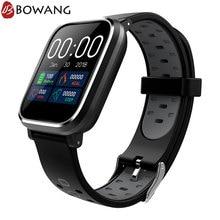 Купить с кэшбэком Square GPS Smart Watch Men Women BOWANG Waterproof Sports SmartwatchHeart Rate Remote Camera Control For Android IOS W04