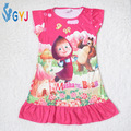 girls night dress masha and the bear pyjama masha kids pajamas girls sleep night dress Cartoon cotton night dress for children
