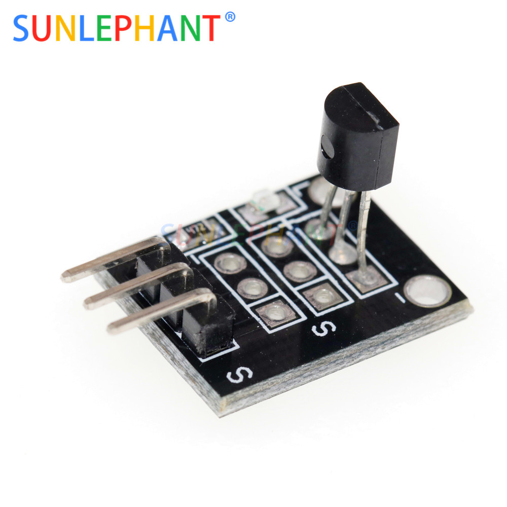 For Arduno KY-001 <font><b>DS18B20</b></font> Temperature Sensor Module Measurement Module DC 3 ~ 5V image