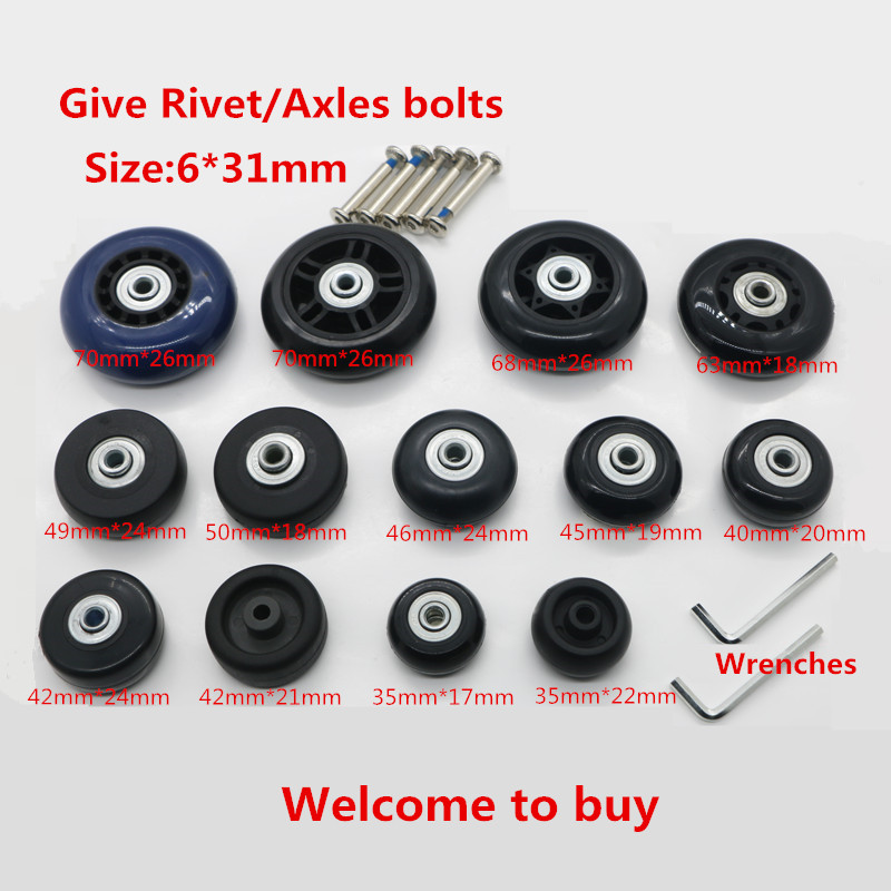 DIY Replacement Luggage Wheels,Replacement Travel trolley suitcases Spinner Wheels for Luggage Repair Parts W7# replacement wheels for luggage repair trolley luggage side wheels suitcase wheels repair wheels for suitcases w047