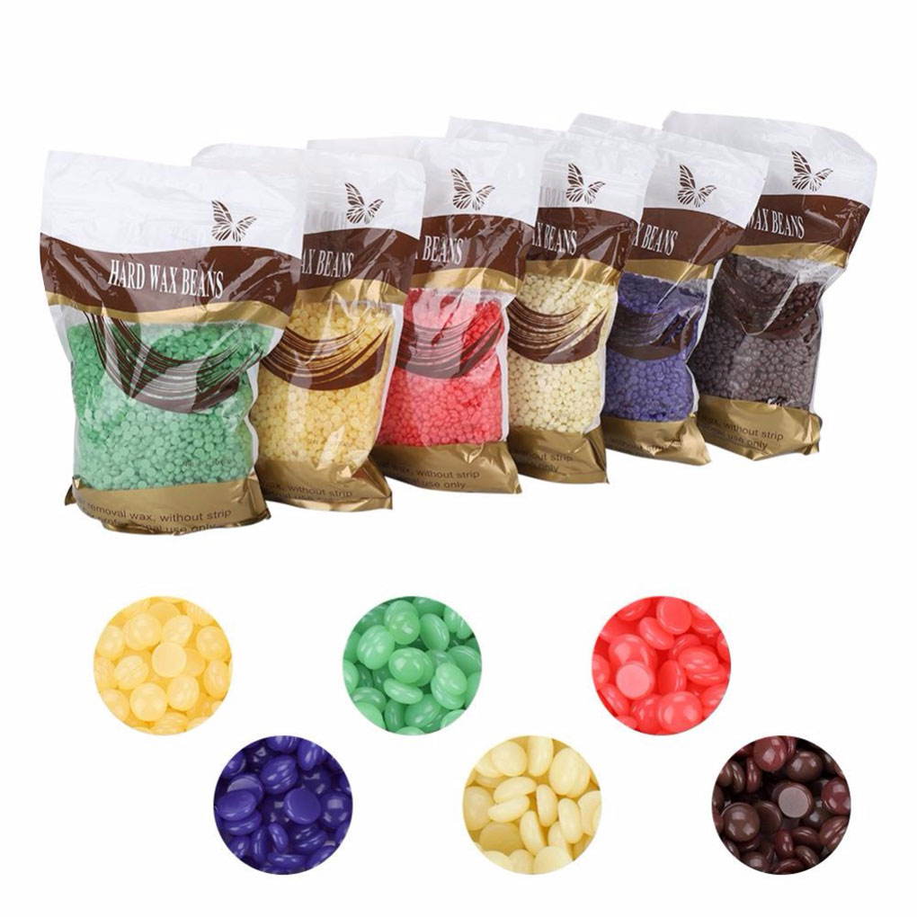 6 Flavours 100g/bag Depilatory Hard Wax Beans Pellet Waxing Bikini Leg Arm Armpit Hair Removal Beans