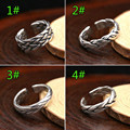 2017 Chiang Mai hand knit Opening Ring 100% Real 925 sterling silver Fashion jewelry for men women Hot Sale 4 styles Ring GR3