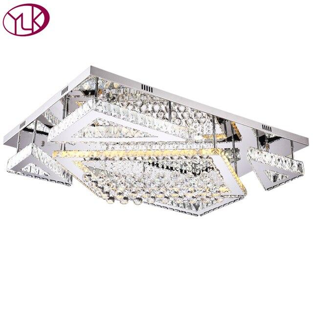 LED Kristall Deckenleuchte Schlafzimmer Deckenleuchten Silber Kristallkugel  K9 Moderne Deckenleuchten Rechteck LED Cristal Lustre