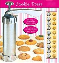 Neue 25 Stück Cookie Presse Pumpe Biscuit Maschine Maker Kuchen Cutter Dekorieren Set