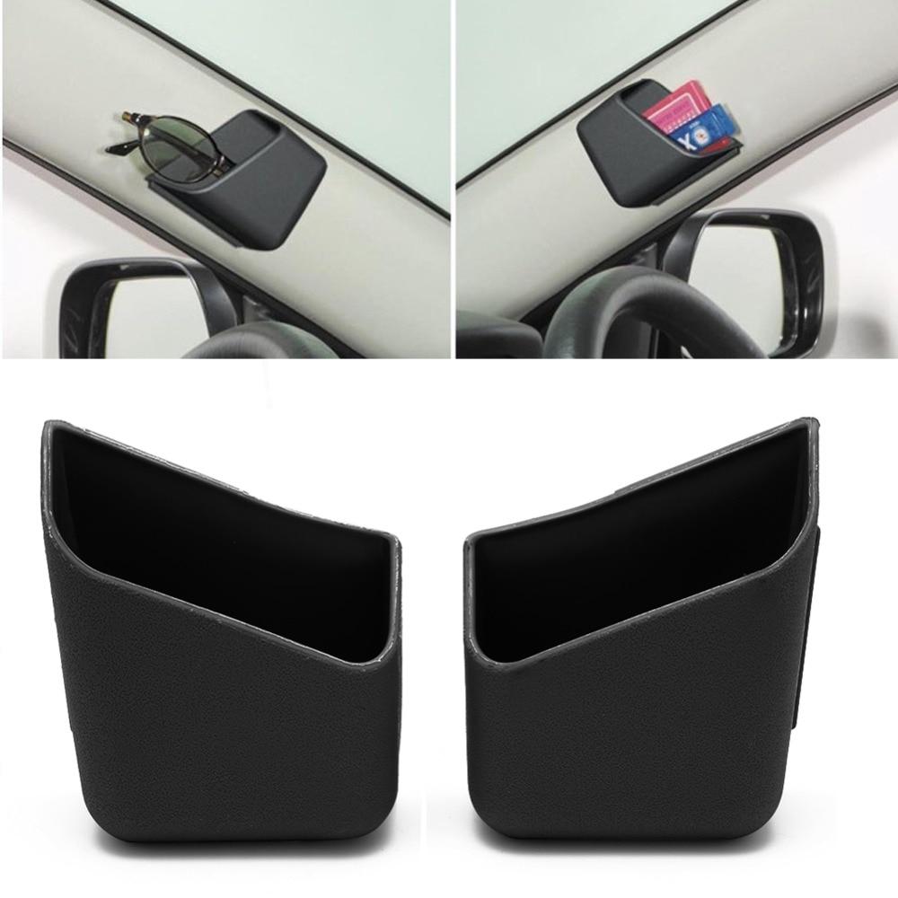 Kris 2pcs Universal Car Auto Accessories Glasses Organizer Storage Box Holder Black 1 pcs auto care car seat organizer