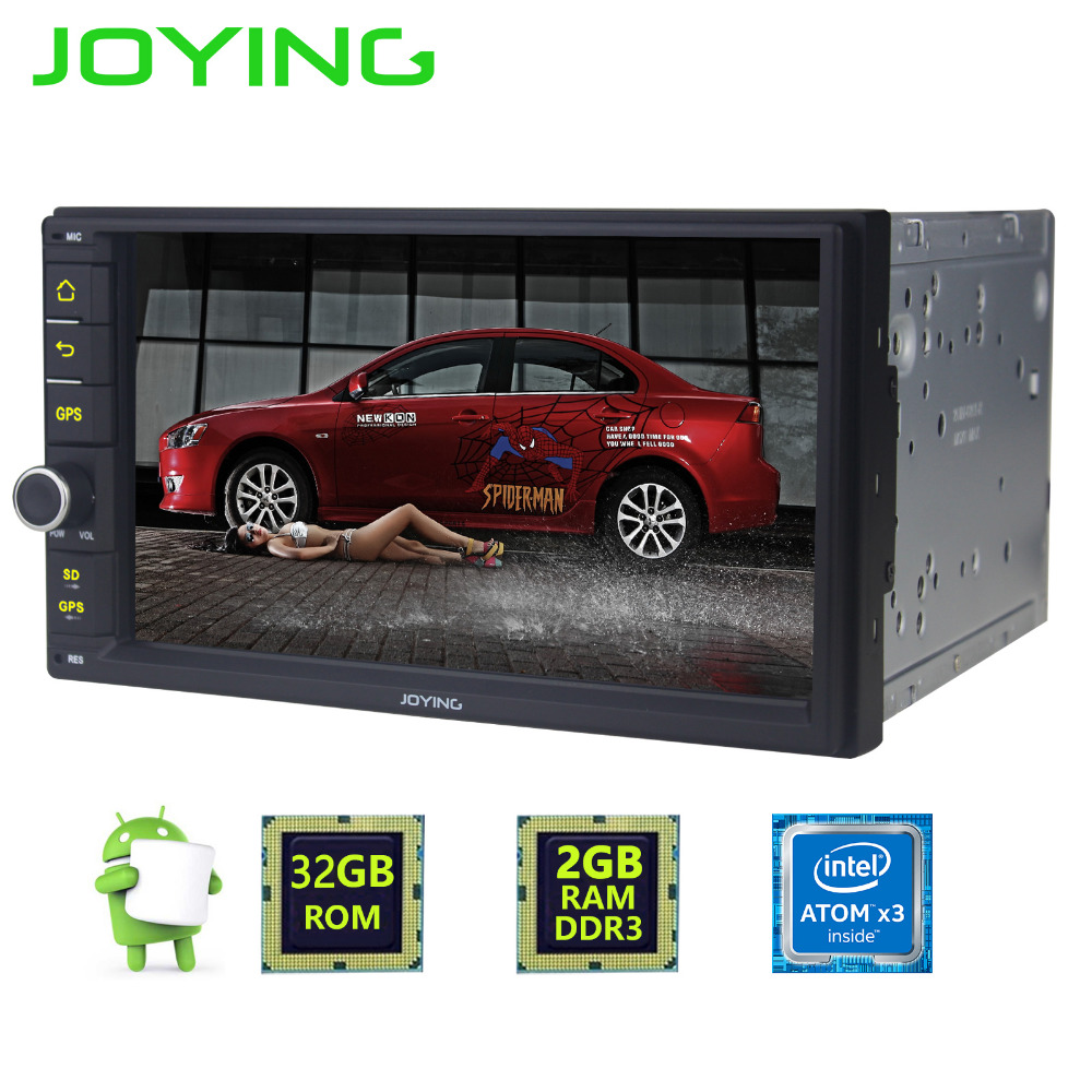 "JOYING Android 5.1 2G RAM 32G 7"" radio 2 Din support steering-wheel control Audio auto Stereo Support 4G LTE SIM Card wifi DVR"