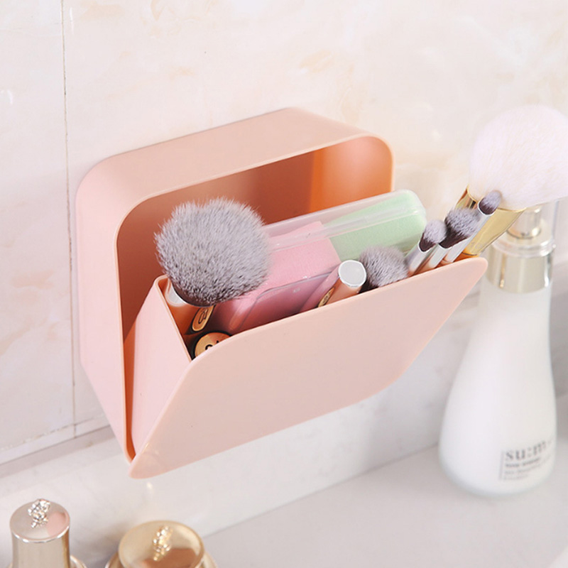 Plastic Wall Hanging Waterproof Organizer Drawer Square Cosmetic Tableware Toothbrush Box Makeup Holder Switch Box Container