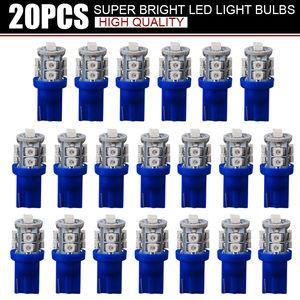 Image 1 - 20 PCS סופר בהיר כחול 12V Led Blulbs עבור מכוניות טריז 10 SMD כיפת מפת מטענים פנים אור מנורת איתות אביזרי רכב