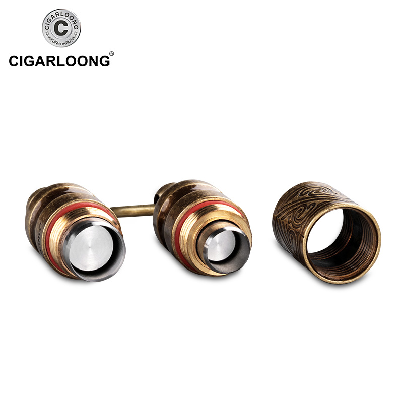 Cigar Punch vintage bronze cigar cutter two size cigar drill hole function with cigar tube case holder gift GH 101 CL K1 in Cigar Accessories from Home Garden