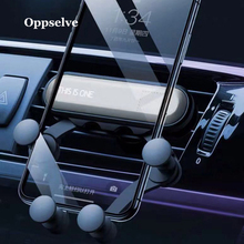 Oppselve Gravity Car Phone Holder For iPhone XS XR X Samsung S10 S9 S8 Plus Mobile Stand Air Vent Mount