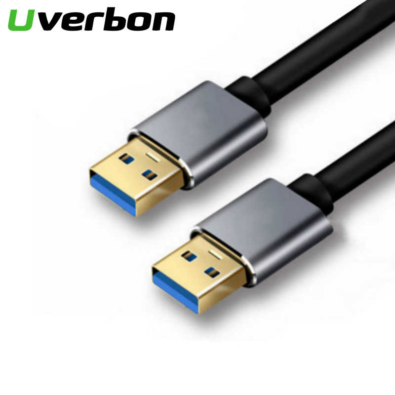 USB 3.0 Cable Type A Male to Male Extension Cable Super Speed USB3.0 Extender for Radiator Hard Disk Webcom Laptop