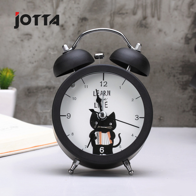 Creative circular small alarm clock desktop mini metal luminous small alarm clock activities holiday gift small clock in Alarm Clocks from Home Garden