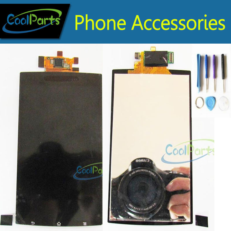 Black Color For Sony Ericsson Xperia Arc S LT15i LT18i LCD Display and Touch Screen Digitizer Assembly With Tools 1PC/Lot