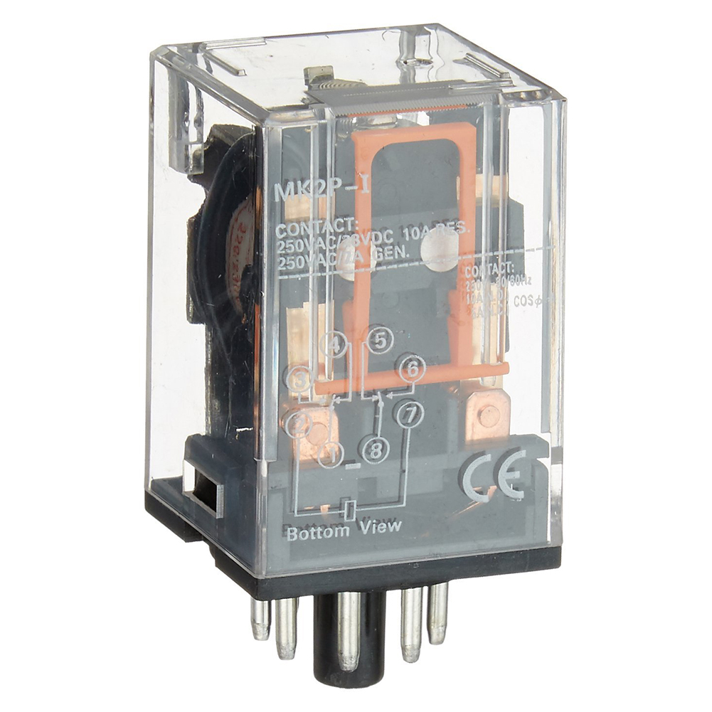 цена на THGS AC 220V/230V Coil Voltage PCB Power Relay 8 Pins DPDT 2NO 2NC MK2P-1
