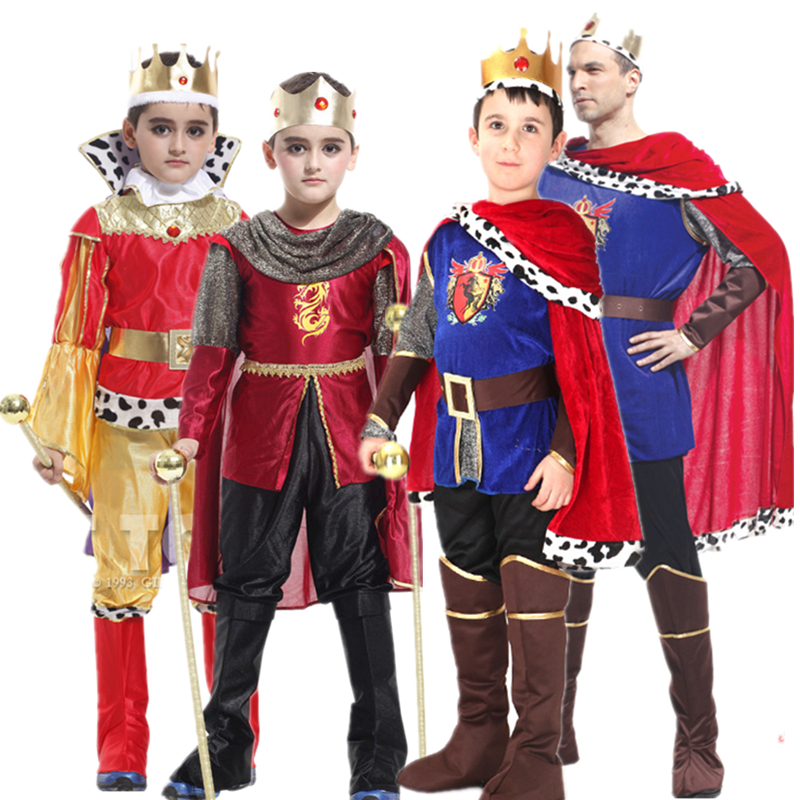 Halloween costume masquerade children's day costume boy king prince clothing Rome luxurious palace performance costume