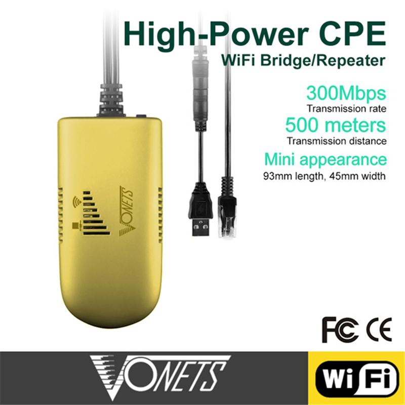Prix pour Vonets VAP11G-500 300 Mbps WiFi Sans Fil Répéteur Bridger pour PC Caméra TV avec la Boîte de Détail 300 Mbps RJ45 DC5V Distance 500 Mètres