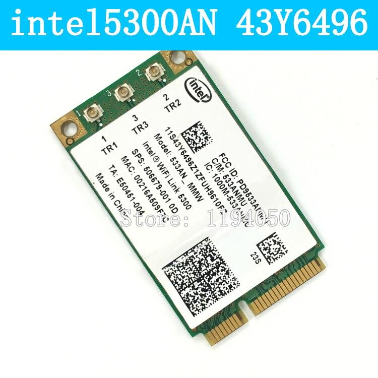Intel WiFi Link 5300AN 802.11a/b/g/n Сеть Мини PCIe Беспроводная Карта 43Y6496 IBM INTEL 5300AGN 5300