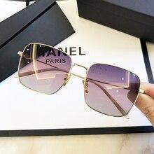 MIZHO 2020 Oversized Metal Square Sunglasses For Women Luxury Brand Fashion Man