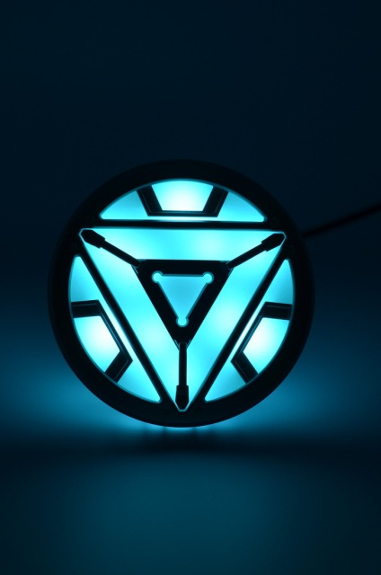 Aliexpress.com : Buy 1:1 scale Iron Man Arc Reactor with ... Iron Man 3 Arc Reactor Logo