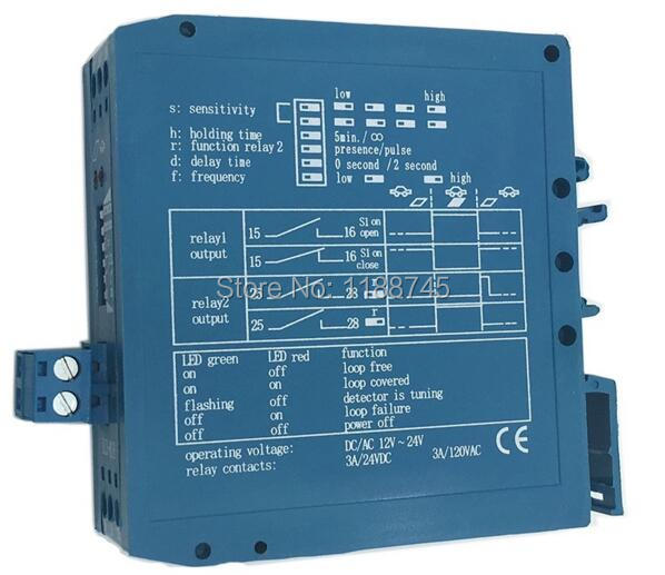 12V 24V AC/DC In One Ground Sensors Traffic Inductive Loop Vehicle Detector Signal Control