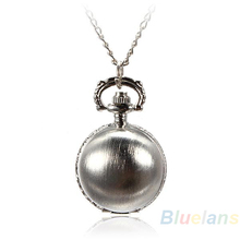 Min. 16 5 Colors Antique Retro Vintage Ball Metal Steampunk Quartz Necklace Pendant Chain Small Pocket Watch