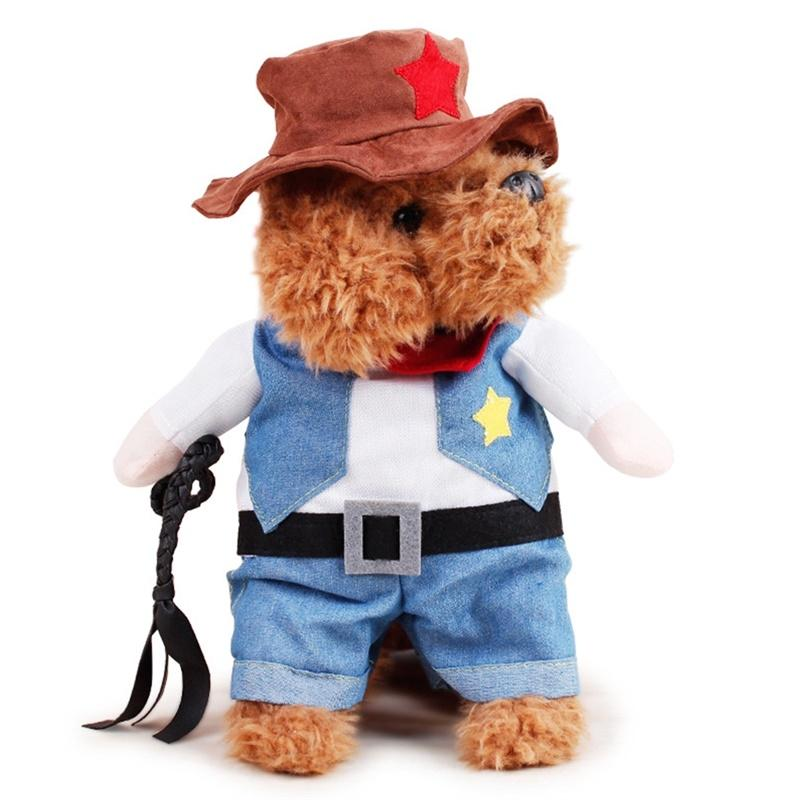 LumiParty Pet Costume Wear Dog Funny Dress up Standing Suit Amuse Walking Dog Cat Cowboy with Arms-30