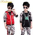 Kindstraum 2017 New Kids Clothing Sets Spring Autumn Boys Camouflage Sports Suits Casual Hooded Jacket + Pant Child Cloth, MC384