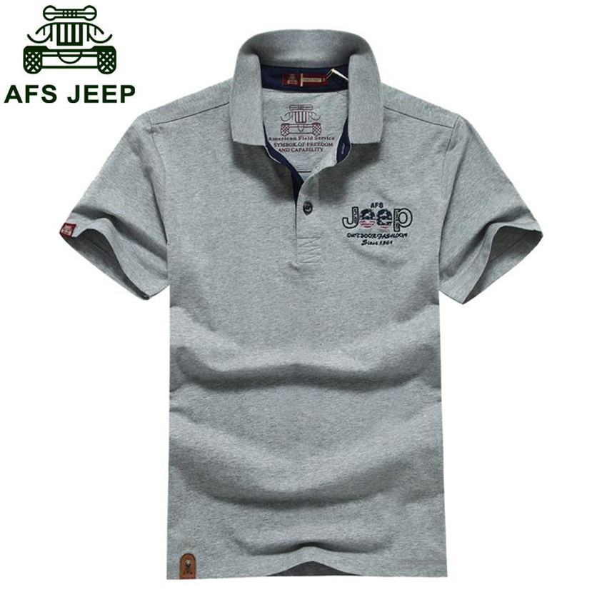 AFS JEEP 2018 New Cotton Short Sleeve   T  -  shirt   Men's Fashion Hot Sale Pure Color   T  -  shirts   Free Shipping h38