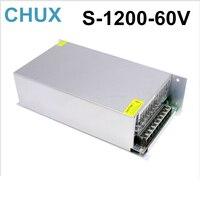 1200W 20A 60V switching power supply 220v 110v ac to 60V dc power supply for cnc cctv led light free shipping