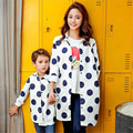 Outono Novo Design Crianças Cothing Lapela Ponto Parágrafo Longo Casaco Crianças Moda Mãe E Crianças Blusão Quente