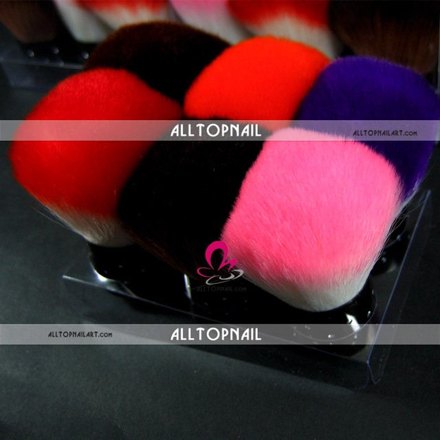 18 pcs/lot Mix Colors Nail Art Dust Brush Cosmetic Cheek Make Up Cleaner