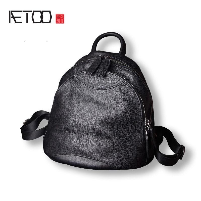 AETOO Leather shoulder bag female new retro tide package head cowboy wild personality bag backpack bag aliwilliam 2017 new backpack female wild