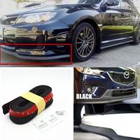 1 PCS Car Universal Front Bumper Lip Splitter Chin Spoiler Skirt Rubber Protector Body Car Accessories