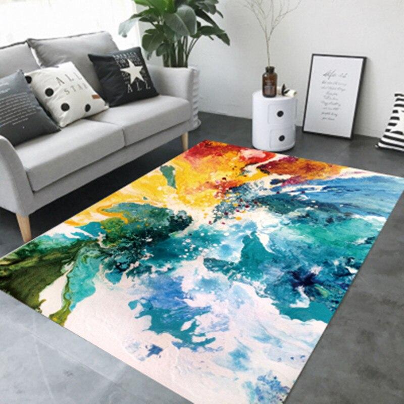 Style nordique mode tapis pour salon en peluche tapis de sol Shaggy tapis maison thé table chambre hôtel Club anti-dérapant tapis doux - 4