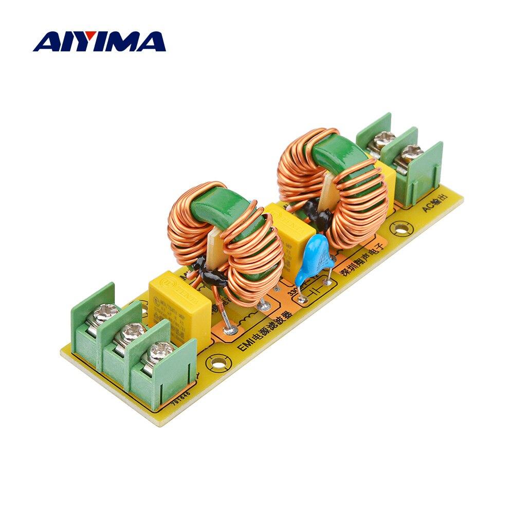 AIYIMA 18A высокочастотный AC фильтр питания EMI фильтр модуль анти-помех DIY для динамика аудио усилитель домашний кинотеатр