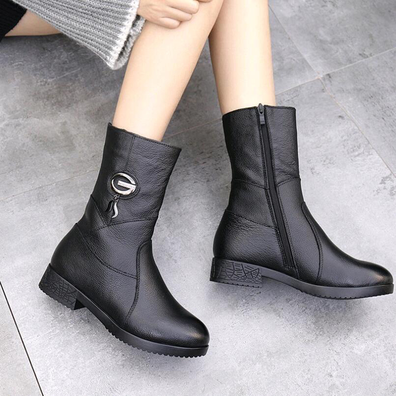 New SunNY Everest winter boots femal botas woman boots real cow leather plush warm cotton boots rubber sole 35-42 us10 11New SunNY Everest winter boots femal botas woman boots real cow leather plush warm cotton boots rubber sole 35-42 us10 11