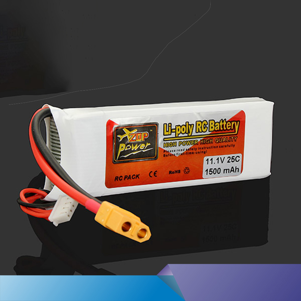 JJRC ZOP Original <font><b>LiPo</b></font> Battery 11.1V <font><b>1500Mah</b></font> <font><b>3S</b></font> 40C Max <font><b>60C</b></font> T XT60 Plug For RC Quadcopter Drone Helicopter Car Airplane Toy Part image