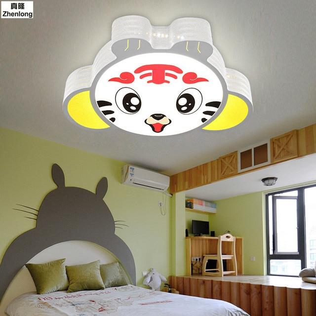 US $131.08 42% OFF|Children\'s Room Tiger Ceiling Light Cozy Bedroom  Lighting Boy/girl Dream Hanging Ceiling Lamps 5730 SMD Living Room Study  Room-in ...