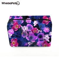 WHOSEPET Flowers Women Multifunction Cosmetic Bag Fashion Female Makeup Bags High Quality Cosmetic Bag New Portable